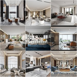 Living room vol4 2020 3d model Download  Buy 3dbrute