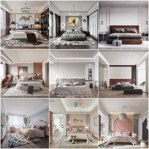 Bedroom vol4 2020 3d model Download  Buy 3dbrute