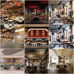 Hotel Teahouse Cafe  2020 3d model Download  Buy 3dbrute