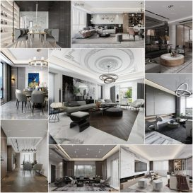 Living room vol6 2020 3d model Download  Buy 3dbrute