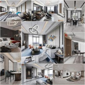 Living room vol7 2020 3d model Download  Buy 3dbrute