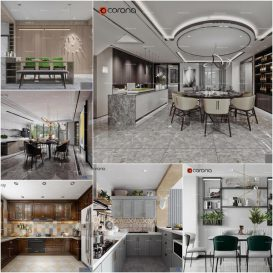 Dining room vol4 2020 3d model Download  Buy 3dbrute