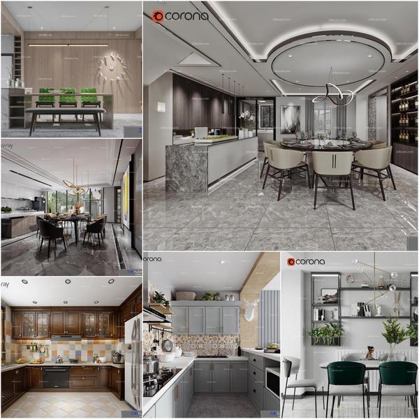 Dining room vol4 2020 3d model Download  Buy 3dbrute