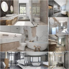 Bathroom vol5 2020 3d model Download  Buy 3dbrute