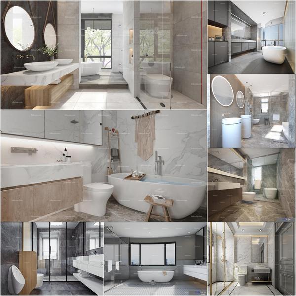 Bathroom vol5 2020 3d model Download  Buy 3dbrute