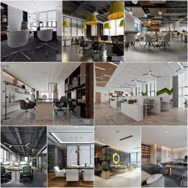 Office vol1  2020 3d model Download  Buy 3dbrute