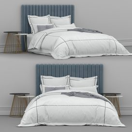 Bed from bedding adairs australia 1 3d model Download  Buy 3dbrute
