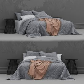 Bed from bedding adairs australia 2 3d model Download  Buy 3dbrute