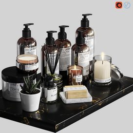 LA Bruket decor set for bathroom-03 3d model Download  Buy 3dbrute