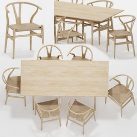 Table Chair Set 05 3d model Download  Buy 3dbrute