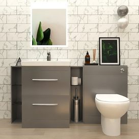 Patello 1600 fitted bathroom furniture set 3d model Download  Buy 3dbrute