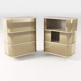 Golden Tambour Console 3d model Download  Buy 3dbrute