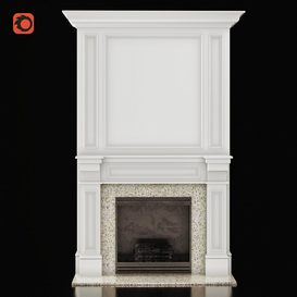 Classic Fireplace 3d model Download  Buy 3dbrute