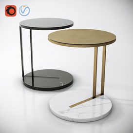 Meridiani Ralf Coffee & Side Table 3d model Download  Buy 3dbrute