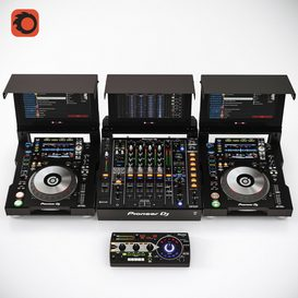 Pioneer DJ Collection 3d model Download  Buy 3dbrute
