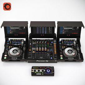 Pioneer DJ Collection 3d model Download  Buy 3dbrute