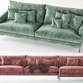 POLIFORM _Bellport Sofa 3d model Download  Buy 3dbrute