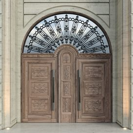 Luxury Entrance Portal (Facade and Door) Corona 3d model Download  Buy 3dbrute