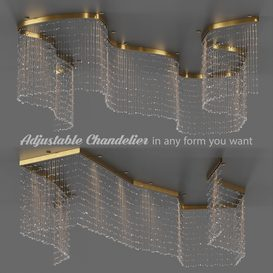 Adjustable Crystal String Chandelier 3d model Download  Buy 3dbrute