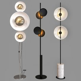 floor lamp set_01 3d model Download  Buy 3dbrute