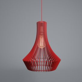 Red lamp modern 3d model Download  Buy 3dbrute
