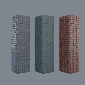 Old temple pillar 3d model Download  Buy 3dbrute