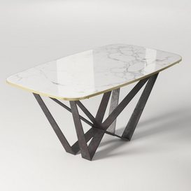 Marble Dining Table 3d model Download  Buy 3dbrute