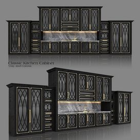 Classic Kitchen Cabinet 3d model Download  Buy 3dbrute