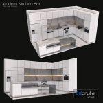 Modern Kitchen Cabinet Set