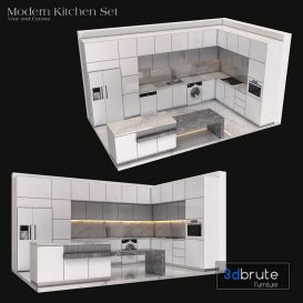 Modern Kitchen Cabinet Set