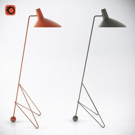 Tripod floor lamp by &Tradition 3d model Download  Buy 3dbrute