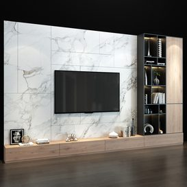 TV Wall set 0150 3d model Download  Buy 3dbrute