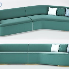 Vladimir Kagan Long Curve Sofa 3d model Download  Buy 3dbrute
