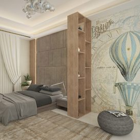 Modern Bedroom 3d model Download  Buy 3dbrute