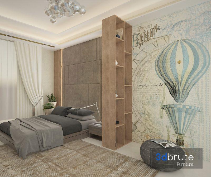Modern Bedroom 3d Model Buy Download 3dbrute