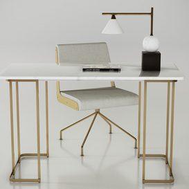 CB2 office furniture set 3d model Download  Buy 3dbrute