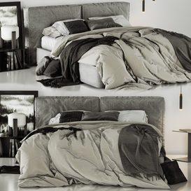 Ditre Italia Flann - Bed 3d model Download  Buy 3dbrute