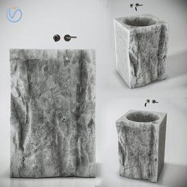 Full Stone Sink 3d model Download  Buy 3dbrute