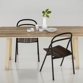 HEM set Udon Chair & Alle Table 3d model Download  Buy 3dbrute