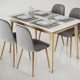 Jysk Jonstrup Chair + Gammelgab Table 3d model Download  Buy 3dbrute
