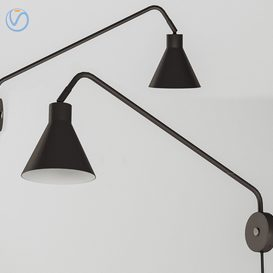 Lyon 1-Light Swing Arm Lamp 3d model Download  Buy 3dbrute