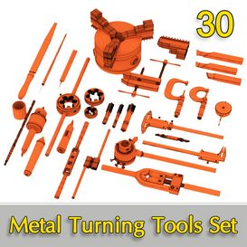 Metal Turning Tools Set 30 3d model Download  Buy 3dbrute