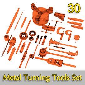 Metal Turning Tools Set 30 3d model Download  Buy 3dbrute