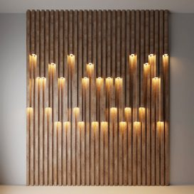 Wall decorative light 2 3d model Download  Buy 3dbrute