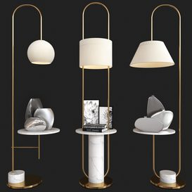 floor lamp set 02 3d model Download  Buy 3dbrute