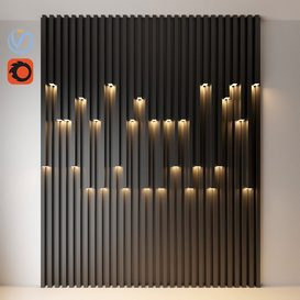 wall decorative light 3d model Download  Buy 3dbrute