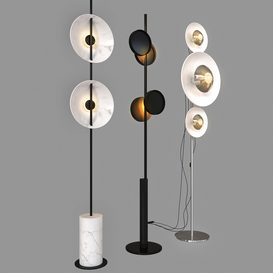 floor lamp set 01 3d model Download  Buy 3dbrute