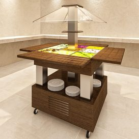 Salad table buffet counter 3d model Download  Buy 3dbrute