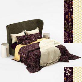 Turpault Lauren meridiani classic bed 3d model Download  Buy 3dbrute