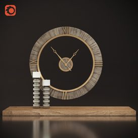 Uttermost Alphonzo Wall Clock 3d model Download  Buy 3dbrute